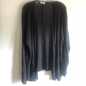 ON black cardigan